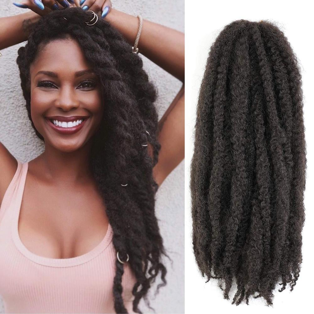 18inch Afro Kinky Twist Braids Hair Marley Braids Hair Extensions Synthetic Twist Crochet Hair For African Women Hair Expo City