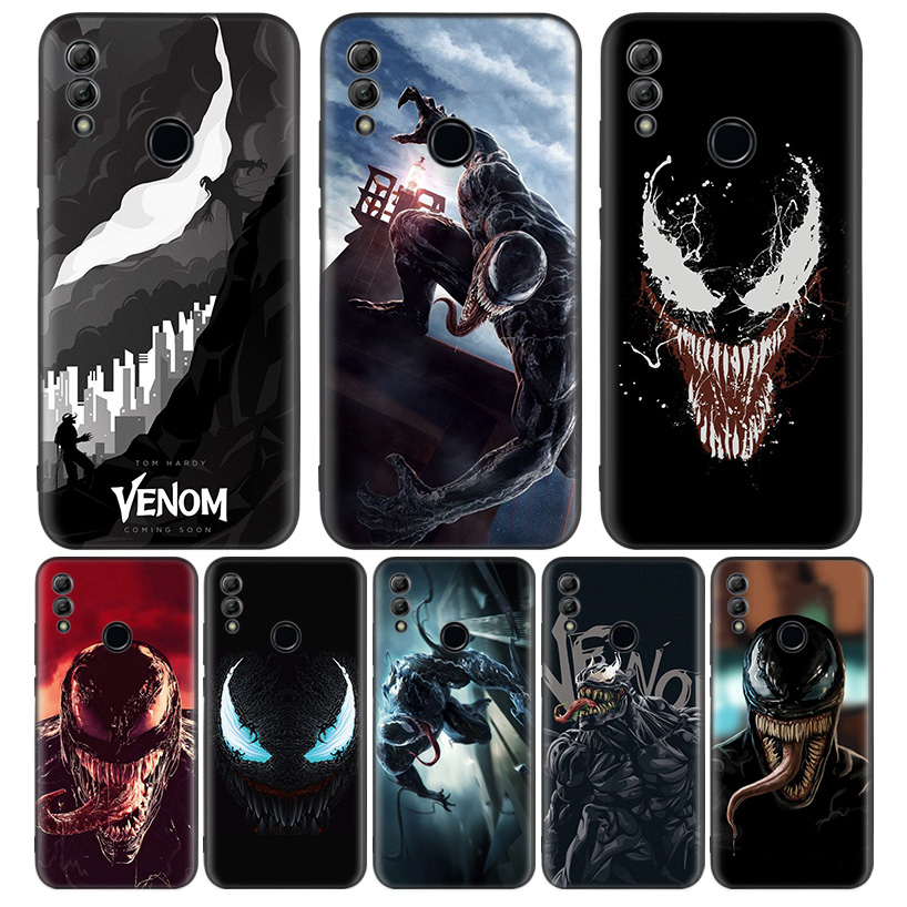 <font><b>Marvel</b></font> Venom Super Hero Black Cover Phone <font><b>Case</b></font> for <font><b>Huawei</b></font> Y9 Y5 Y6 <font><b>Y7</b></font> <font><b>2019</b></font> Honor 10 9 Lite 9X 8X 8S 8A 7S 7A 10i 20i V20 Coque C image