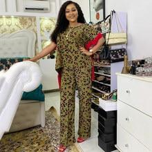 MD – ensemble deux pièces pour femmes, t-shirt et pantalon, imprimé africain, nouvelle collection 2021, S9035