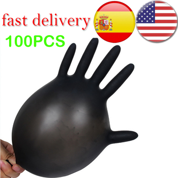 100PCS Anti-Static Electronics-Food Work-Gloves Chemical Nitrile Medical-Testing Wear-Resistance Blue 1