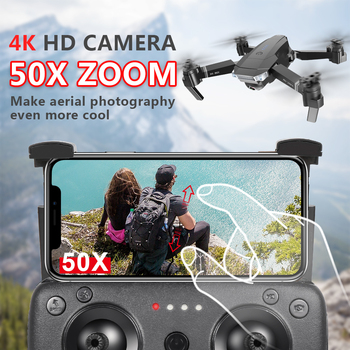 2019New SG901 Quadrocopter Camera Drone 4K 1080P HD Dual Camera 50X Zoom Gesture photo Follow Me FPV Professional Toy For Kid 1