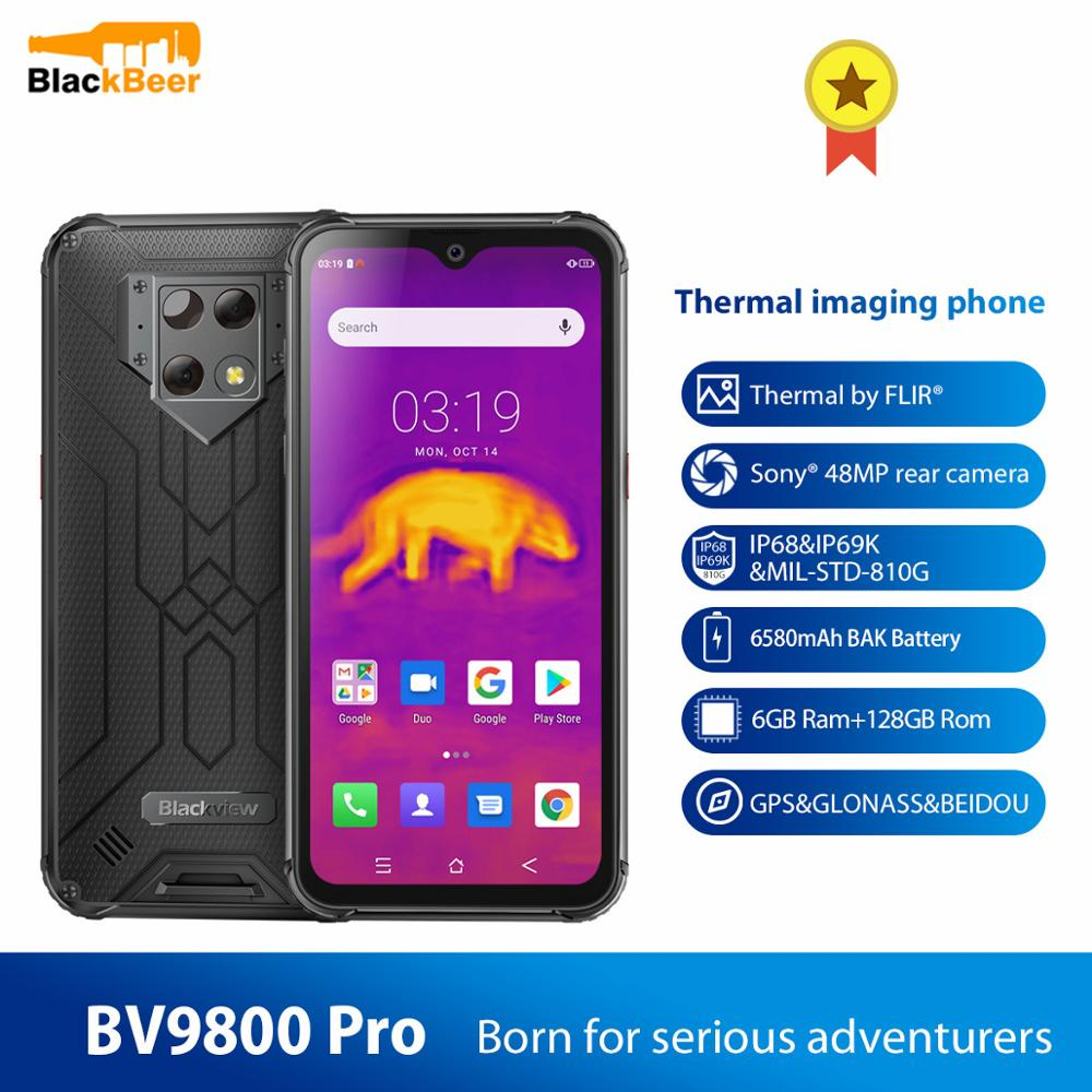 Blackview BV9800 Pro IP68 Rugged Smartphone 48MP P70 Octa Core Android 9.0 Mobilephone 6GB+128GB CellPhone Thermal imaging NFC