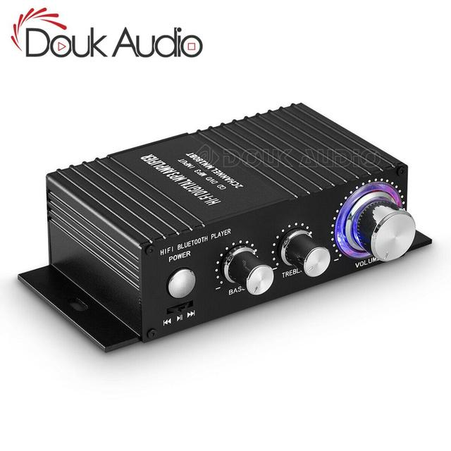 HiFi 100W 2.0 Canali Amplificatore di Potenza Bluetooth Ricevitore Audio Stereo Amplificatore Digitale per Home Auto Marine USB del Giocatore di Musica IR Remote