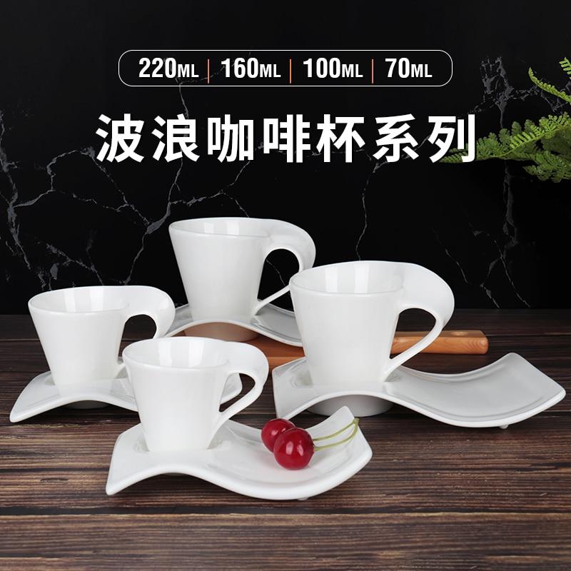 Роскошный многоразовый набор кофейных чашек Европейский костяной фарфор чай Милая чашка и блюдце керамическая креативная Filxhan Kafeje домашня...