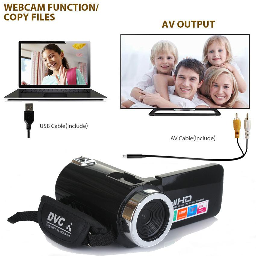 HiMISS Professional 4K HD Camcorder Video Camera Night Vision 3.0 Inch LCD Touch Screen 18x Digital Zoom Camera with Microphone