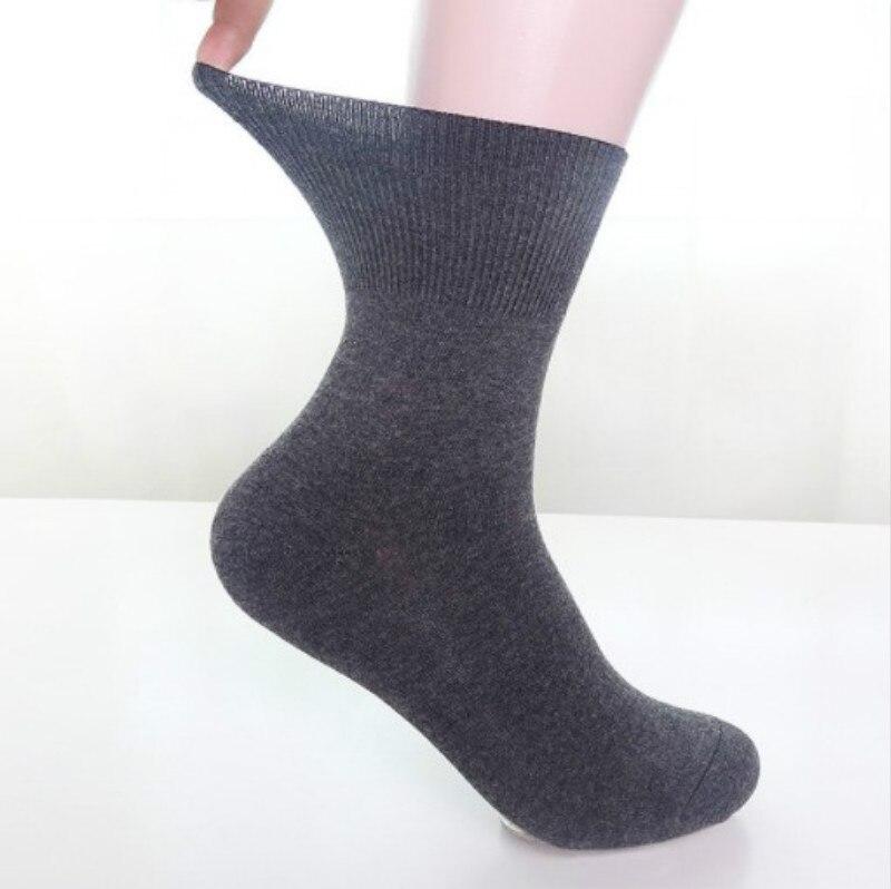 Мужские неэластичные носки, 100 хлопок, сотовая расцветка, Мягкий Топ, диабетические хлопковые полоски, хлопковые подарки для мужчин 6-11