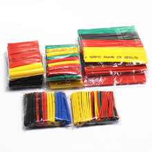 цена на 328pcsSet Polyolefin Shrinking Assorted Heat Shrink Tube Wire Cable Insulated Sleeving Tubing Set 2:1