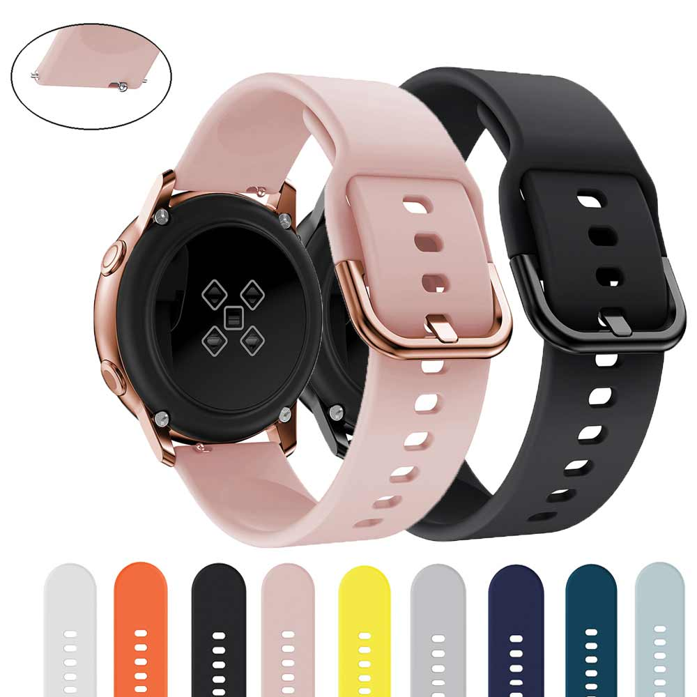 Silicone Strap For Samsung Galaxy S2 20mm Active Smart Watch Band 42mm Bracelet Sport For Galaxy Watch Belt Watches Replacement