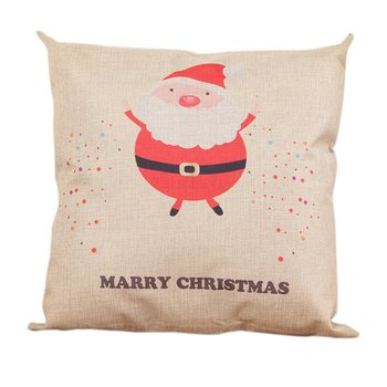 LED Christmas Pillows Cover Decor Christmas Pillow Cases Linen Sofa Cushion Cover Home Decor Santa Claus Antlers image