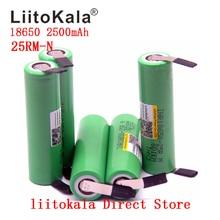 새로운 1 10 개/몫 원래 Liitokala 18650 2500mah 배터리 INR18650 25RM 20A 방전 리튬 배터리