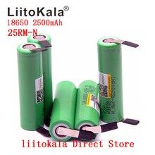 Novo 1 10 pçs/lote original liitokala 18650 2500mah bateria inr18650 25rm 20a baterias de lítio descarga