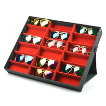18 grades óculos de sol óculos de armazenamento caixa de exibição titular caso organizador gq