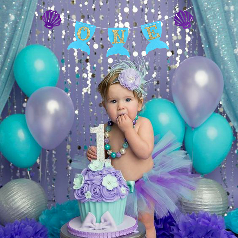 Incredible Little Mermaid Birthday Party Decorations Happy Birthday Banners Funny Birthday Cards Online Alyptdamsfinfo