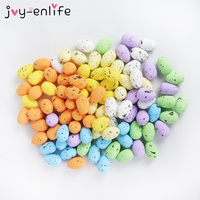 20pcs 3.3cm Foam Easter Eggs Happy Easter Decoration Bird Pigeon Eggs Home Party Decor DIY Craft Kids Gift Easter Party Supplies