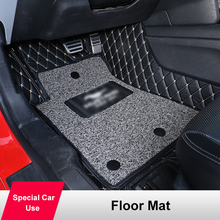 Rug Ford-Mustang Car-Floor-Mats Black Red QHCP Wire-Mat Detachable Foot-Pad Microfiber