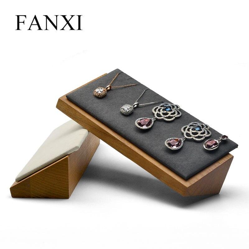 Подвесной Держатель для ожерелья fanxi из цельного дерева с