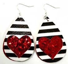 Plaid Leather Earrings for Women Handmade Lightweight Teardrop Dangle Faux Leather Statement Earrings for Girls New