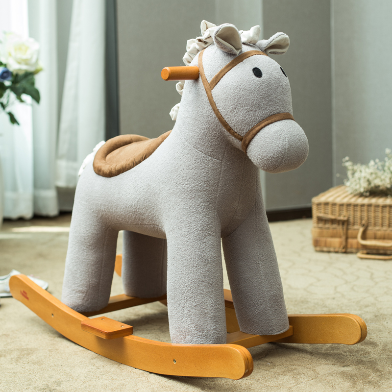 Children Rocking Horse Rocking Chair Baby Wood Toys Music Holiday Gift Kids Furniture Rocking Horse Toddler Chair Rocking Chair
