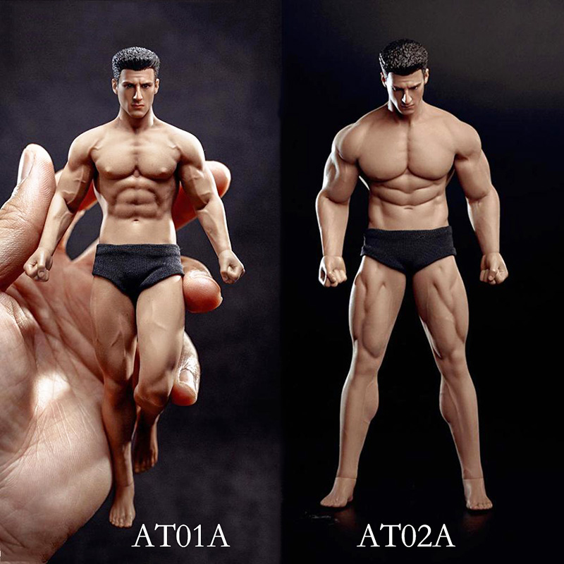 1/12 Scale Mini Figure With Pants & Head Sculpt PH2019-TM01A/TM02A Male Super Flexible Seamless Muscular Strong Body Doll Model
