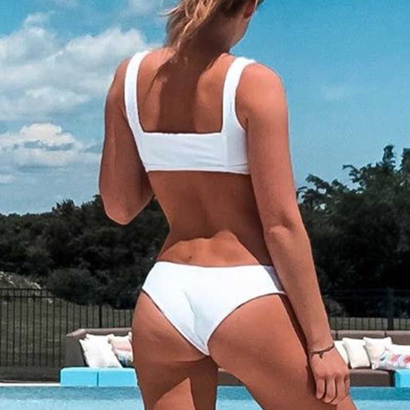 Пуш-Ап купальник женский 2019 Модный комплект бикини белый купальник женский летний Купальник Новый змеиный принт бикини сексуальный biquini mujer