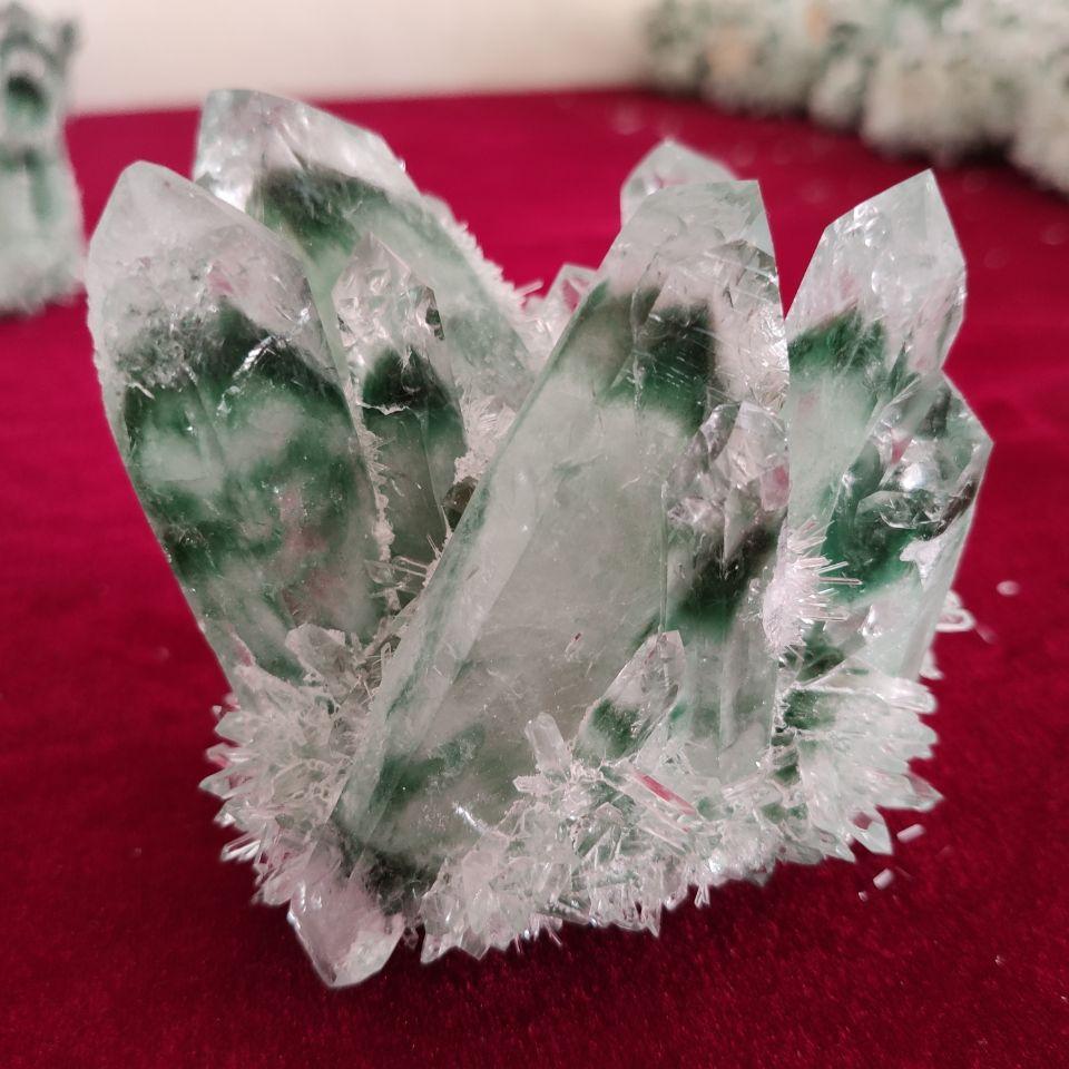 300-1000 г редкий красивый зеленый призрак фантомный кварцевый кристалл кластер образец