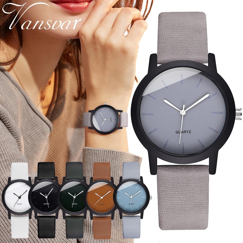 Модные простые женские часы, креативный круглый кожаный ремень, женские кварцевые часы, Reloj Mujer, подарок, Bayan Kol Saati, часы Zegarek