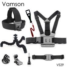 Vamson 8 в 1 для Gopro Hero 8 7 6 5 Аксессуары Осьминог штатив монопод голова нагрудный ремень для SJCAM для Xiaomi для Yi 4K VS29
