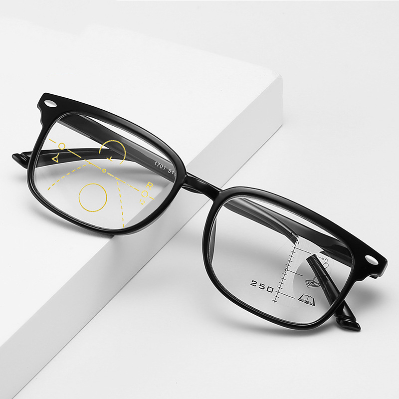 Ultralight Anti Blue-ray Reading Glasses Men Multifocal Progressive Presbyopic Eyewear Women Sexy Leopard Frame Spectacles