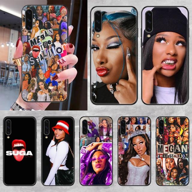 Megan te étalon étui de Téléphone Pour Samsung Galaxy A 3 5 7 8 10 20 21 30 40 50 51 70 71 E S 2016 2018 4G noir tendance couverture souple