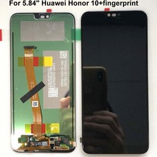 """ลายนิ้วมือ + 5.84 """"สำหรับ Huawei Honor 10 จอแสดงผล LCD Touch Screen Digitizer ASSEMBLY สำหรับ Huawei Honor 10 COL AL00 COL AL10 COL L29"""
