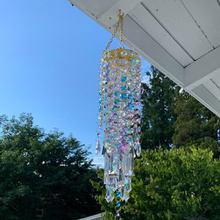 Carillones de viento para decoración de la habitación del hogar, carillones de cristal coloridos para exteriores, jardín, Patio, Patio, decoración de césped, regalos para decoración del hogar