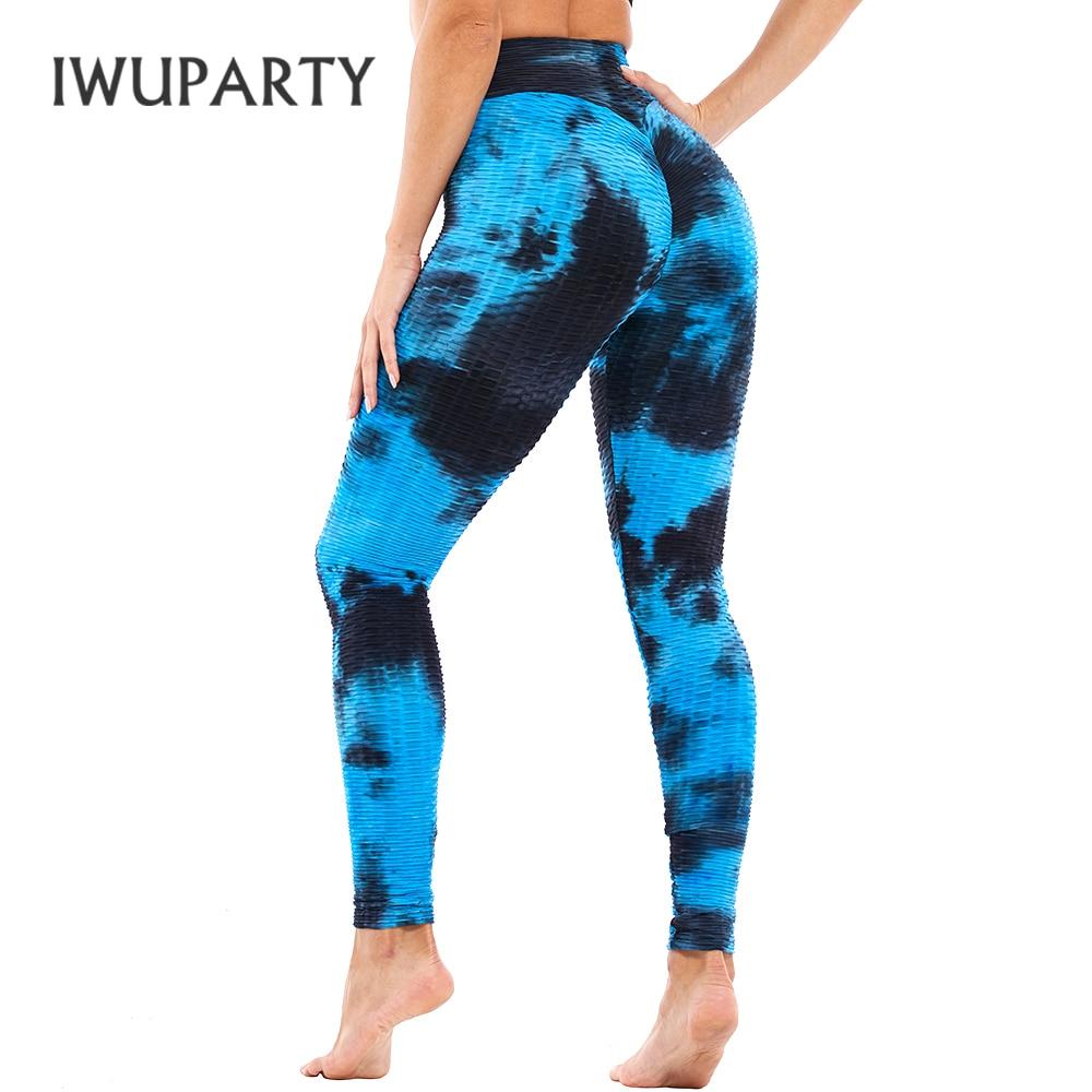 3D Women's Tie Dye Joga Pant Rainbow Printed High Waist Stretchy Fitness Running Gym Athletic Leggings Ladies Push Up Sportwear