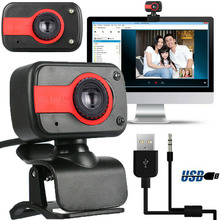 Rotatable Digital USB Computer Webcam with Microphone PC Video Camera Laptop Home VDX99