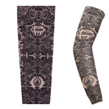 Glove Arm-Protection-Sleeves Tattoo-Printed Hand Long-Cuff 1pcs