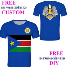 South Sudan custom Male Tee-shirt Blue cool streetwear Sultan T-shirt Black Print flag Clothing(China)