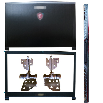 Nowy Laptop dla MSI GS73 GS73VR MS-17B1 MS-17B3 LCD tylna pokrywa pokrywa przednia zawiasy zawias pokrywa 3077B5A213 3077B1A222 tanie i dobre opinie KNYORO Pokrowce na laptopa CN (pochodzenie) Pokrywa wymienna do laptopa Unisex For MSI GS73 GS73VR MS-17B1 MS-17B3 Bez suwaka
