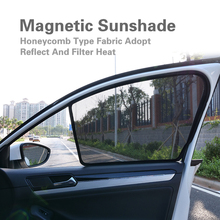 2PCS Magnetic Car Front / Rear Side Window SunShades Cover For BMW 5 Series F18 G30 G38 F10 Curtain