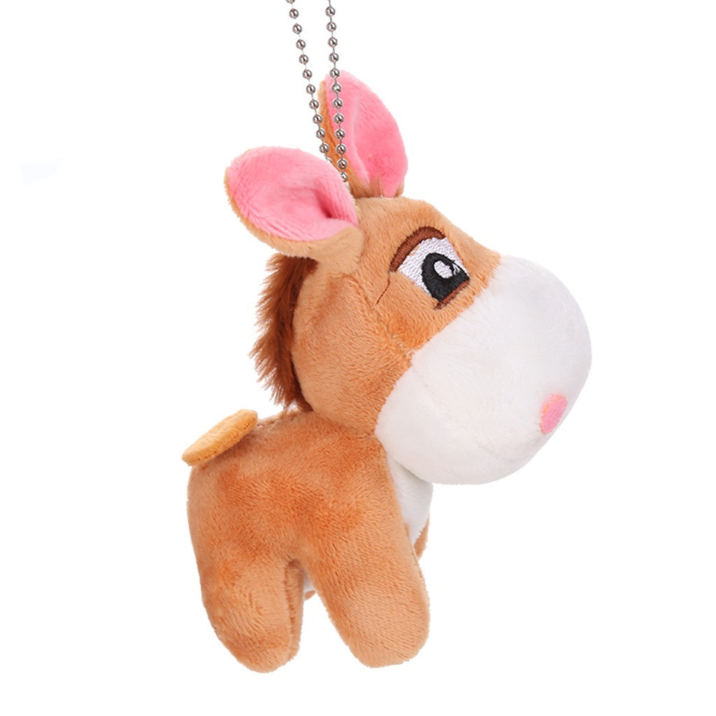Kawaii Little Donkey Plush Keychain Toys Long Ears Stuffed Animals Doll Girls Toys Backpack Pendant #A