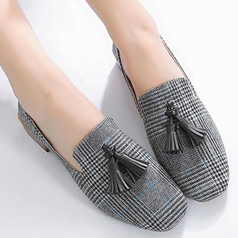 Gland mocassins femmes belles chaussures plates de créateur toile bateau chaussures femme grande taille 5-10.5 femmes chaussures plates printemps/automne