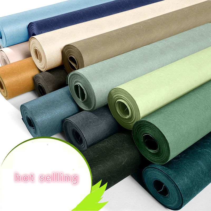 Wall Modern Papers Home Decor Green Blue Grey Solid Color Plain