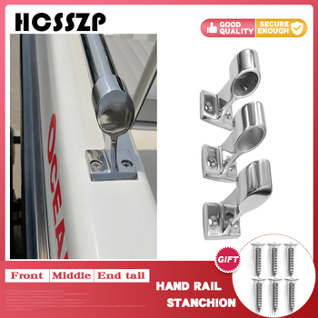 Marine Boat Hand Rail Fitting 316 Stainless Steel 22/25mm 60 Degree Railing Support Light Bracket Hardware for Marine Boat Yacht boat hand rail center stanchion stainless steel top cap fitting boat marine stainless steel universal for boat