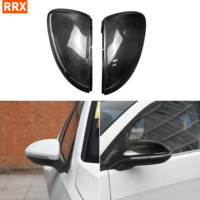 For VW Golf 7 MK7 R GTI VII 2013 2017 Carbon Fiber Mirror Covers Caps RearView Rear View Mirror Case Cover Replacement Shells
