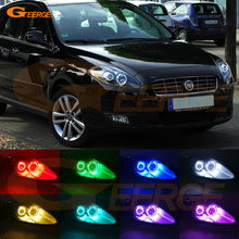 עבור פיאט Croma מתיחת פנים 2008 2009 2010 2011 RF מרחוק Bluetooth APP בקר רב צבע Ultra מואר RGB LED ערכת עיני מלאך