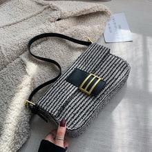Jollque Tweed Shoulder Bag for Womens Handbags Purse Vintage Luxury Designer Win