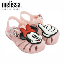 Mini Melissa Aranha + Mickey And Friends Boy Girl Jelly Shoes Beach Sandals 2020 Baby Shoes Soft Melissa Sandals Kids Non-slip(China)