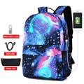 Новинка  Сумка с защитой от кражи  светящиеся школьные сумки для мальчиков  студенческий рюкзак 15-17 дюймов  mochila с usb-зарядным портом и замком ...