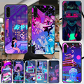 Чехол для телефона Vaporwave Glitch для Samsung Galaxy A 3 5 7 8 10 20 21 30 40 50 51 70 71 E S 2016 2018 4G, черный красивый водонепроницаемый чехол из ТПУ