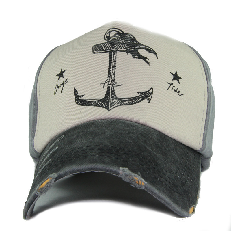 Cowboy Baseball Caps Unisex Adjustable Hat Rudder Anchor Ship Halloween Trucker Cap