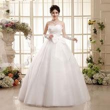С фабрики; свадебное платье с большим бантом; коллекция года; Корейская версия; милые свадебные платья из шифона с открытыми плечами; Vestidos De Novia