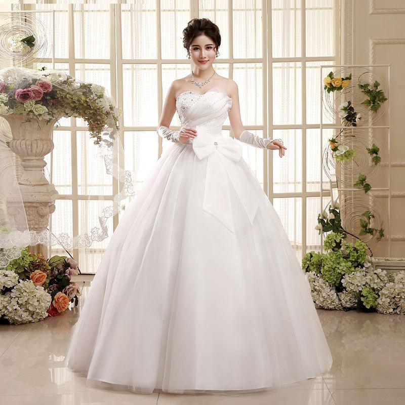 Factory Wholesale Big Bow Wedding Dress 2019 Korean Version Sweetheart Off The Shoulder Chiffon Bridal Gowns Vestidos De Novia